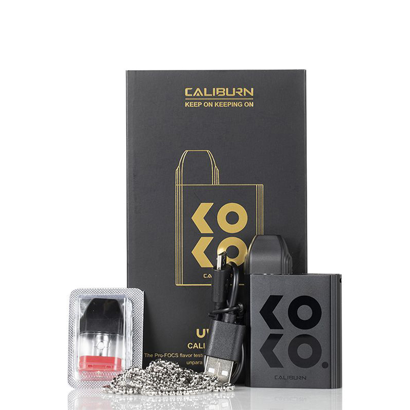 [Image: uwell_caliburn_koko_pod_system_kit_package_contents.jpg]